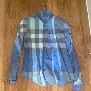 Plaid Burberry brit blouse
